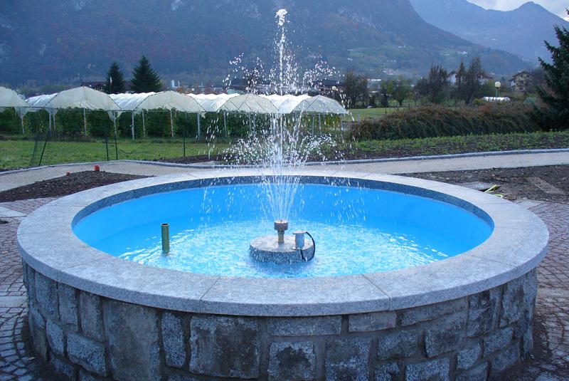 Fontane, giochi d'acqua, impianti di irrigazione per giardini pubblici e privati